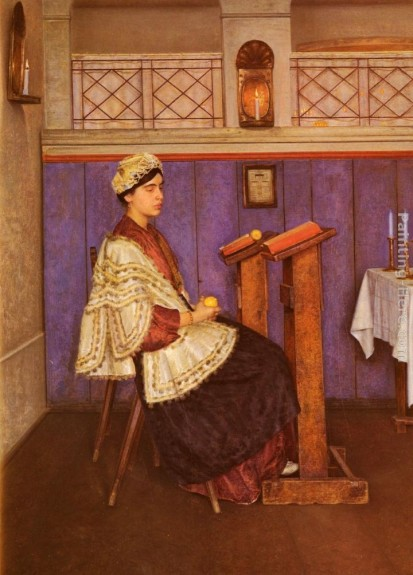 Young Woman in the Synagogue I Kaufman