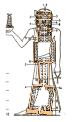 Luxor Temple Plan - Schwaller de Lubicz - Books of Foundation.png
