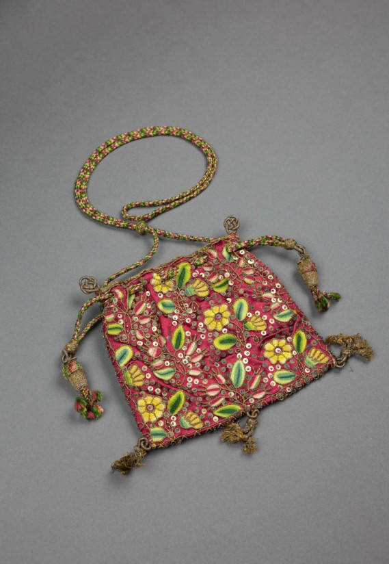 An embroidered Sweet Bag, late sixteenth-century